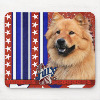 July 4th Firecracker - Chow Chow - Cinny Mouse Pad