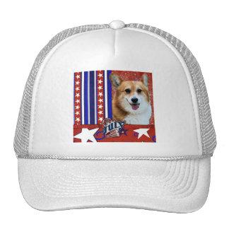 July 4th Firecracker - Corgi - Owen Trucker Hat