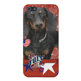 July 4th Firecracker - Dachshund - Winston iPhone 5 Cases
