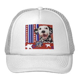 July 4th Firecracker - Dalmatian Trucker Hat