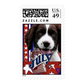 July 4th Firecracker - English Springer Spaniel Postage Stamps