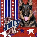 July 4th Firecracker - German Shepherd - Kuno Acrylic Cut Out