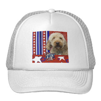 July 4th Firecracker - GoldenDoodle Hats
