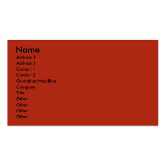 July 4th Firecracker - Jack Russell Double-Sided Standard Business Cards (Pack Of 100)