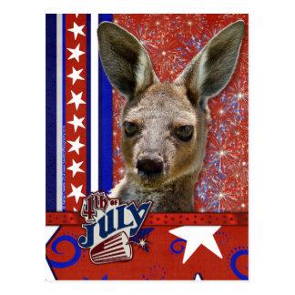July 4th Firecracker - Kangaroo Postcard