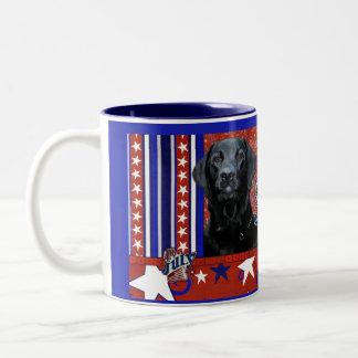 July 4th Firecracker - Labrador - Black - Gage Two-Tone Coffee Mug