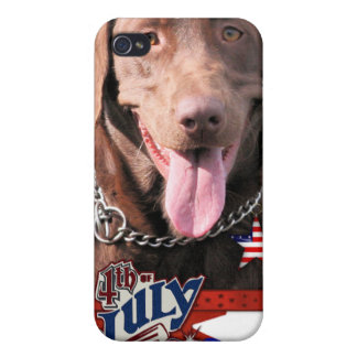 July 4th Firecracker - Labrador - Chocolate iPhone 4/4S Covers