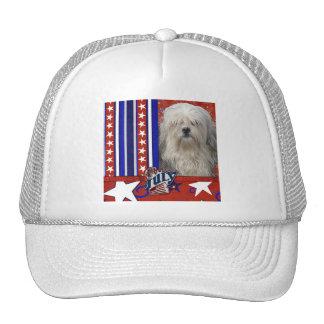 July 4th Firecracker - Lowchen Trucker Hat