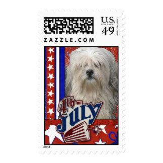 July 4th Firecracker - Lowchen Stamp