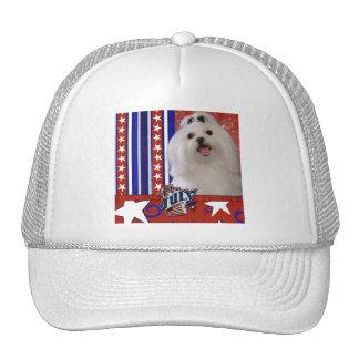 July 4th Firecracker - Maltese Trucker Hat