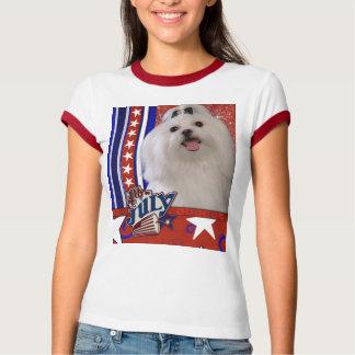 July 4th Firecracker - Maltese T-Shirt