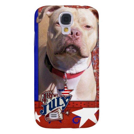 July 4th Firecracker - Pitbull - Jersey Girl Galaxy S4 Case