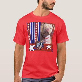 July 4th Firecracker - Pitbull - Jersey Girl T-Shirt
