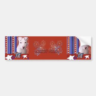 July 4th Firecracker - Pitbull Puppy - Petey Bumper Stickers
