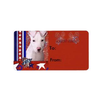 July 4th Firecracker - Pitbull Puppy - Petey Label