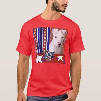 July 4th Firecracker - Pitbull Puppy - Petey T-Shirt