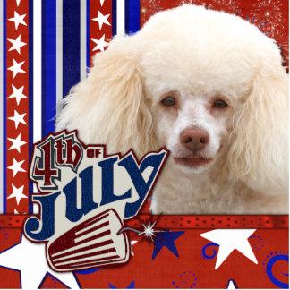 July 4th Firecracker - Poodle - White Cutout