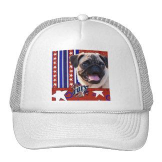 July 4th Firecracker - Pug Trucker Hat