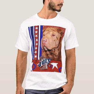 July 4th Firecracker - Shar Pei - Lucky T-Shirt