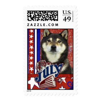 July 4th Firecracker - Shiba Inus Stamps
