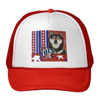 July 4th Firecracker - Shiba Inus Trucker Hat
