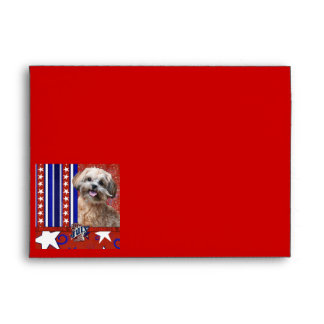July 4th Firecracker - ShihPoo - Maggie Envelope