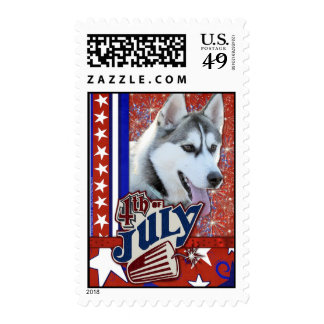 July 4th Firecracker - Siberian Husky Postage