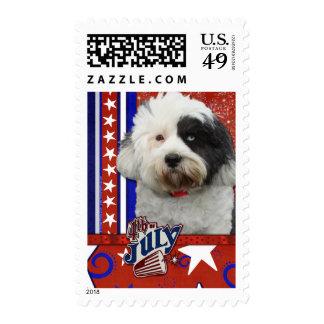 July 4th Firecracker - Tibetan Terrier Stamp