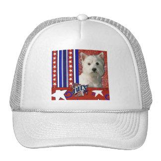 July 4th Firecracker - West Highland Terrier Trucker Hat