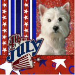 July 4th Firecracker - West Highland Terrier Acrylic Cut Outs