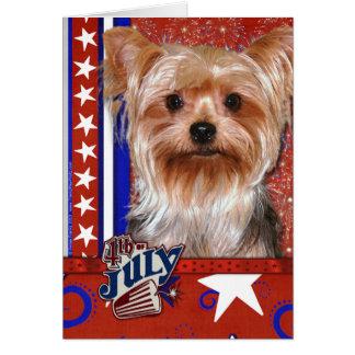 July 4th Firecracker - Yorkshire Terrier Card