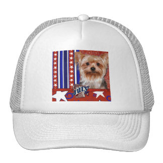July 4th Firecracker - Yorkshire Terrier Trucker Hat
