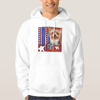 July 4th Firecracker - Yorkshire Terrier Hoodie