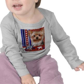 July 4th Firecracker - Yorkshire Terrier Tee Shirt