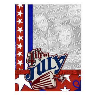 July 4th Firecracker - YOUR PHOTO Inserted Postcard