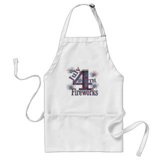 July 4th Fireworks Adult Apron