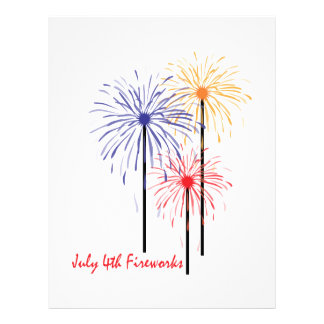July 4th Fireworks Letterhead Template