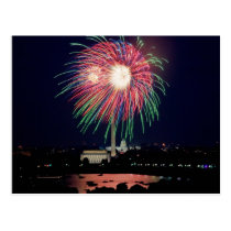 July 4th Fireworks, Washington DC postcard