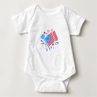 July 4th Flag Baby Bodysuit