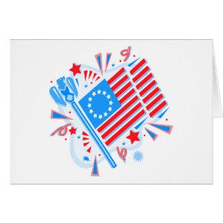 July 4th Flag Card
