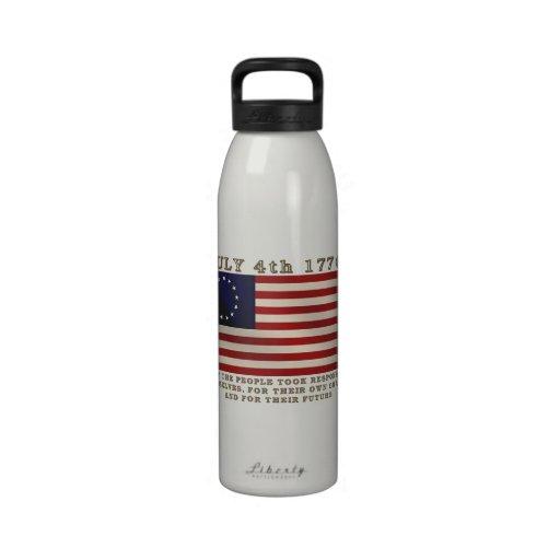 July 4th Flag Drinking Bottle