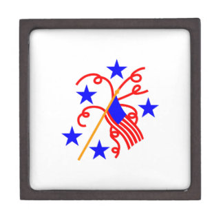 July 4th Flag Jewelry Box