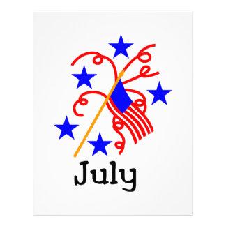 July 4th Flag Letterhead