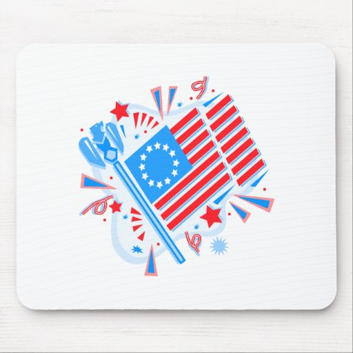 July 4th Flag Mouse Pad
