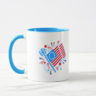 July 4th Flag Mug