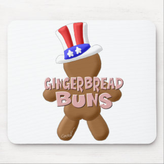 July 4th Gingerbread Buns Mouse Pad