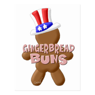 July 4th Gingerbread Buns Postcard
