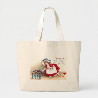 July 4th Girl and Toy Soldiers Jumbo Tote Bag