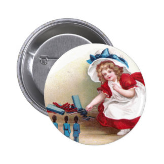July 4th Girl and Toy Soldiers Buttons