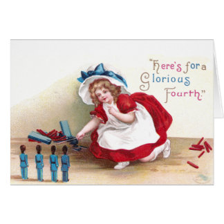 July 4th Girl and Toy Soldiers Cards